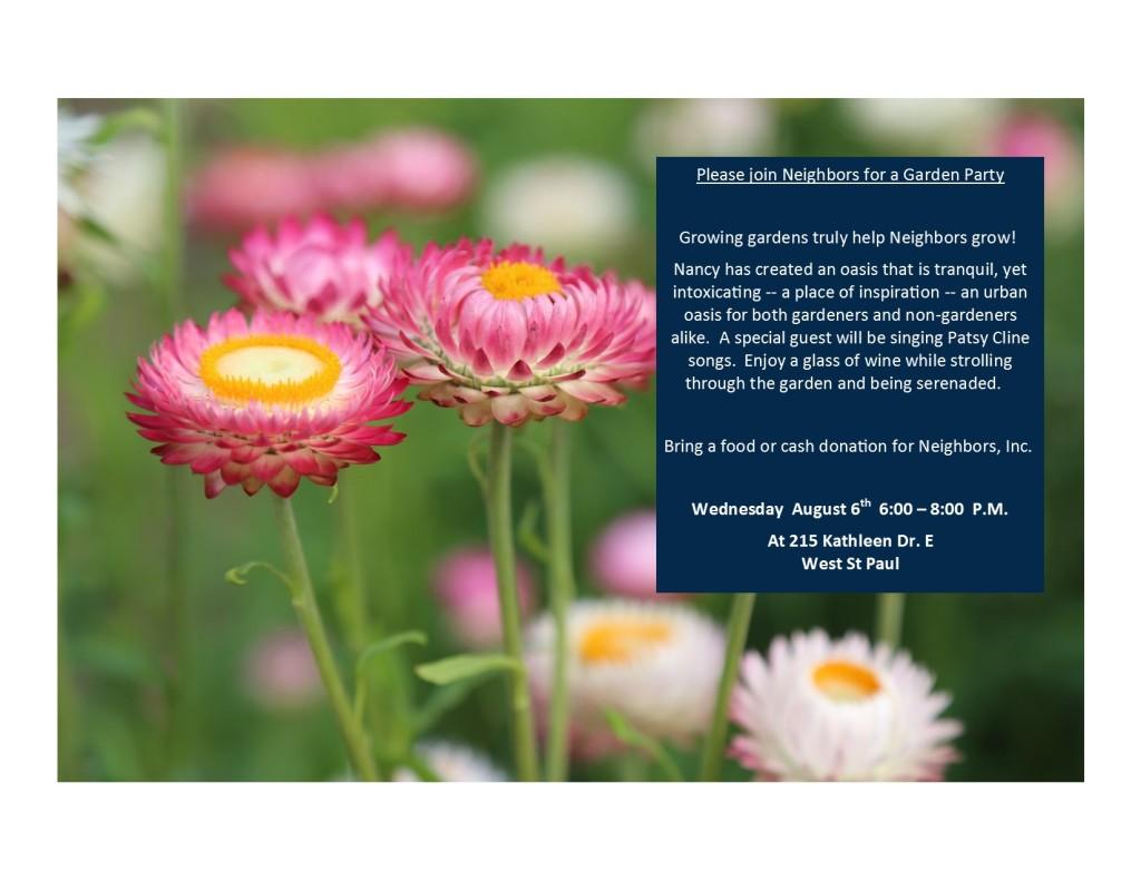 Garden Party Invite August 6 2014