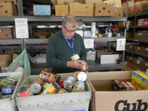 All food donations are sorted by type and expiration date.