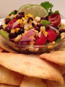 Grilled Corn, Black Bean and Lime Salad