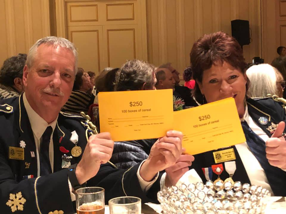 Members of the Royal Guard attending the Neighbors Benefit Night Performance of It's A Wonderful Life at The Saint Paul Hotel.